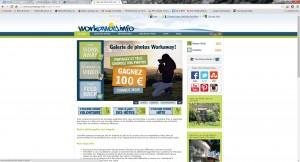 Workaway homepage