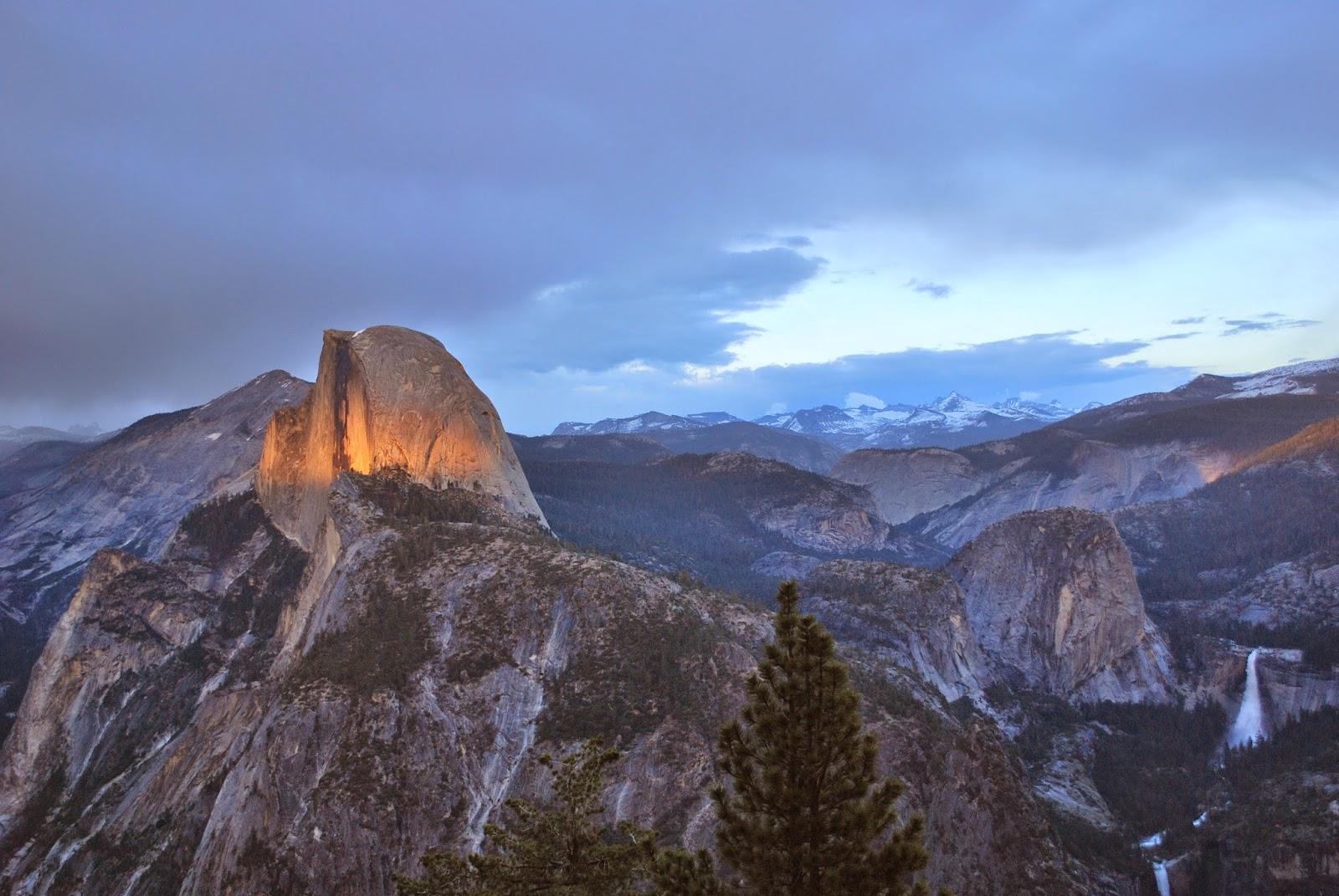 Le Half Dome, emblème du parc national de Yosemite