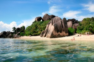 Anse Source d'Argent, one of La Digue's most famous beaches for its rockeries.