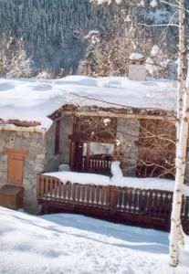 chalet artisan bois hiver