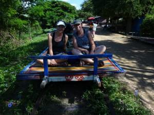 Train en Bamboo Cambodge
